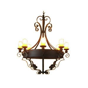 #myRustica #House is the best place to find an #iron #chandelier. Each piece chandelier is individually made combining the #European art of hand forging techniques with #traditional finishes.
