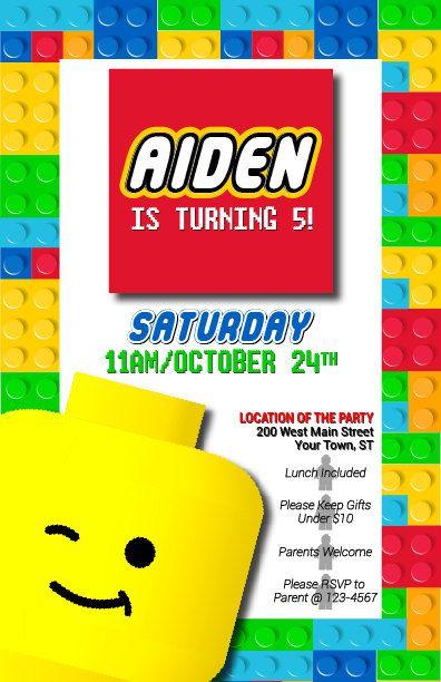 Pin En Lego Birthday