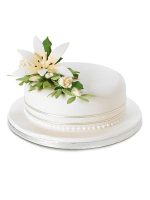 Decorating a single layer cake with flowers google for Decoration layer cake