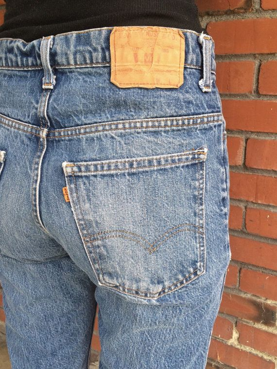 c2f757fe3d8 Vintage Levi's 519 orange tab high waist denim jeans. Actual measurements  Waist 31