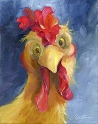 can't find artist name  | Chickens | Rooster art, Chicken