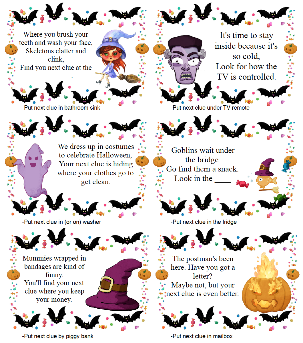 Free Printable Halloween Treasure Hunt for Kids