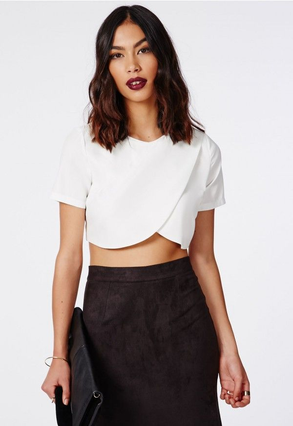 f35d13697276a sysal wrap front crop top white
