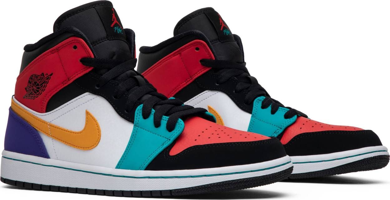 Air Jordan 1 Mid Multi Color Air Jordans Custom Nike Shoes