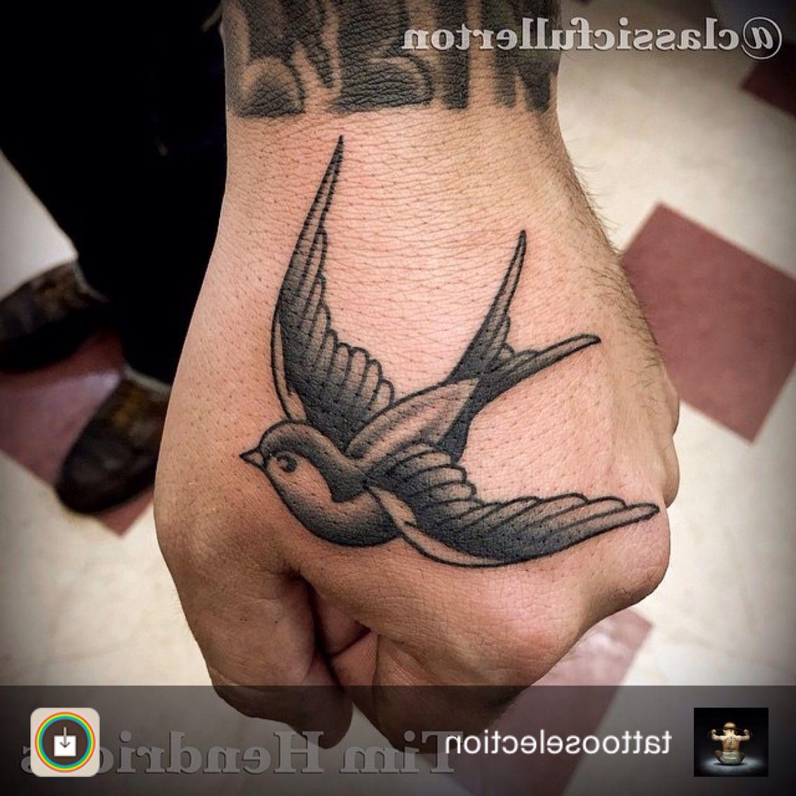 Swallow Tattoos Hand Tattoos Swallow Tattoo