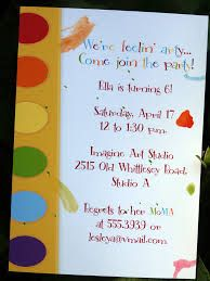 Invitation Wording Painting Party Art Party Invitations Artist