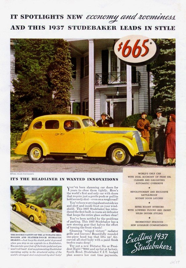 Directory Index Studebaker Ads 1937 Studebaker Car Advertising Car Ads