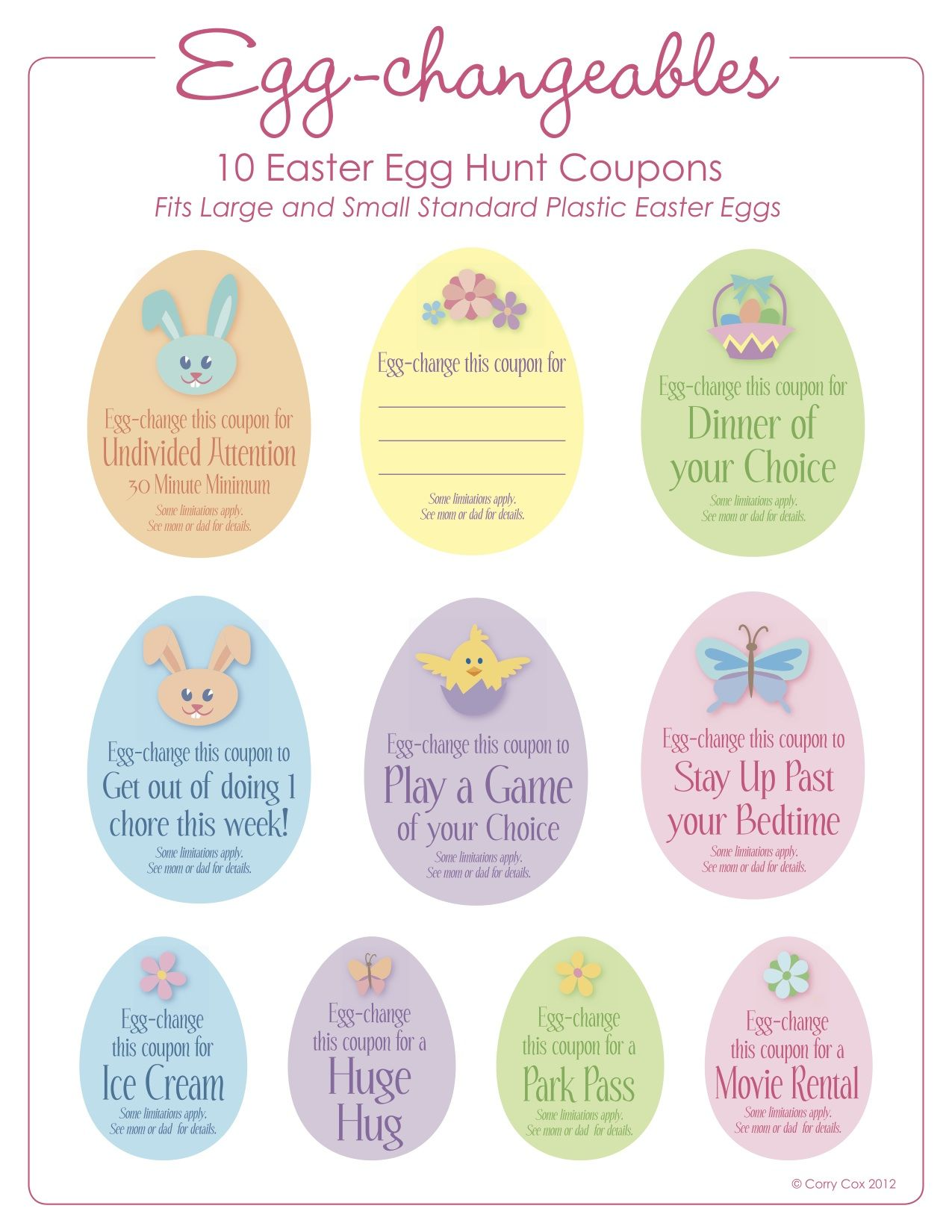Easter Coupons For Egg Hunt