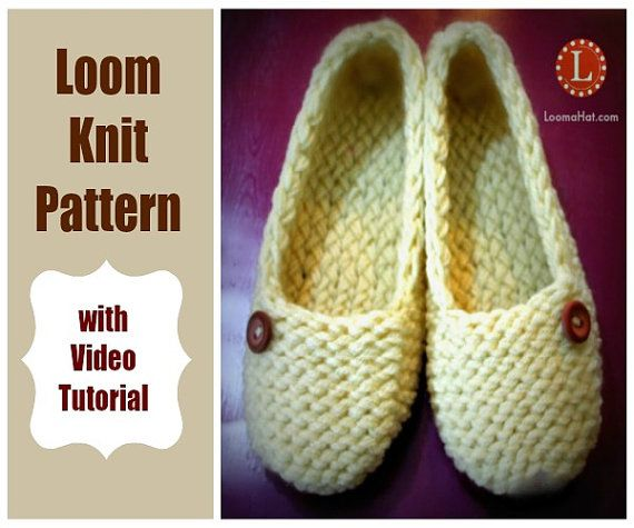 2 Loom Knitting Pattern Ladies Slippers With Video By Loomahat
