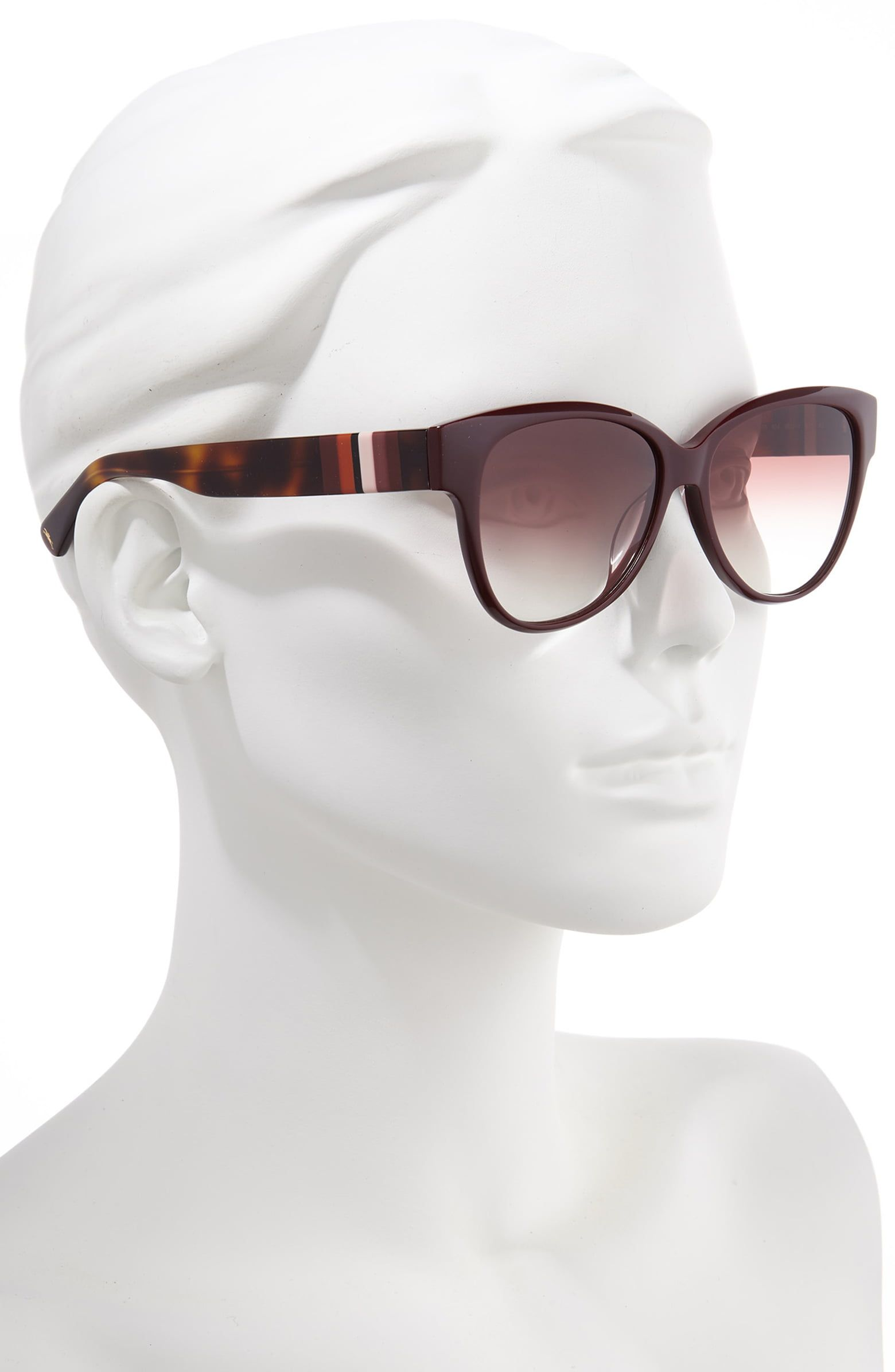 0f23c048b15a Longchamp Heritage Stripes 56mm Gradient Sunglasses | Nordstrom ...