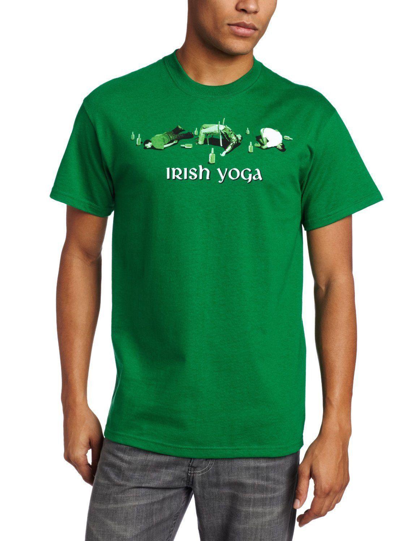 267fdad37 Irish Yoga Funny Drinking T-Shirt St Patricks Day Pub Tee Shirt Men's Clothing  Clothing, ...