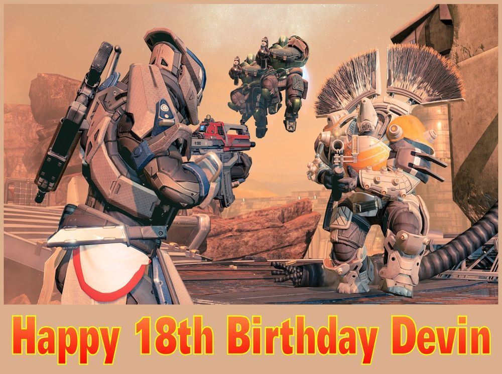 Edible Cake Frosting Image Birthday Topper Destiny Video Game