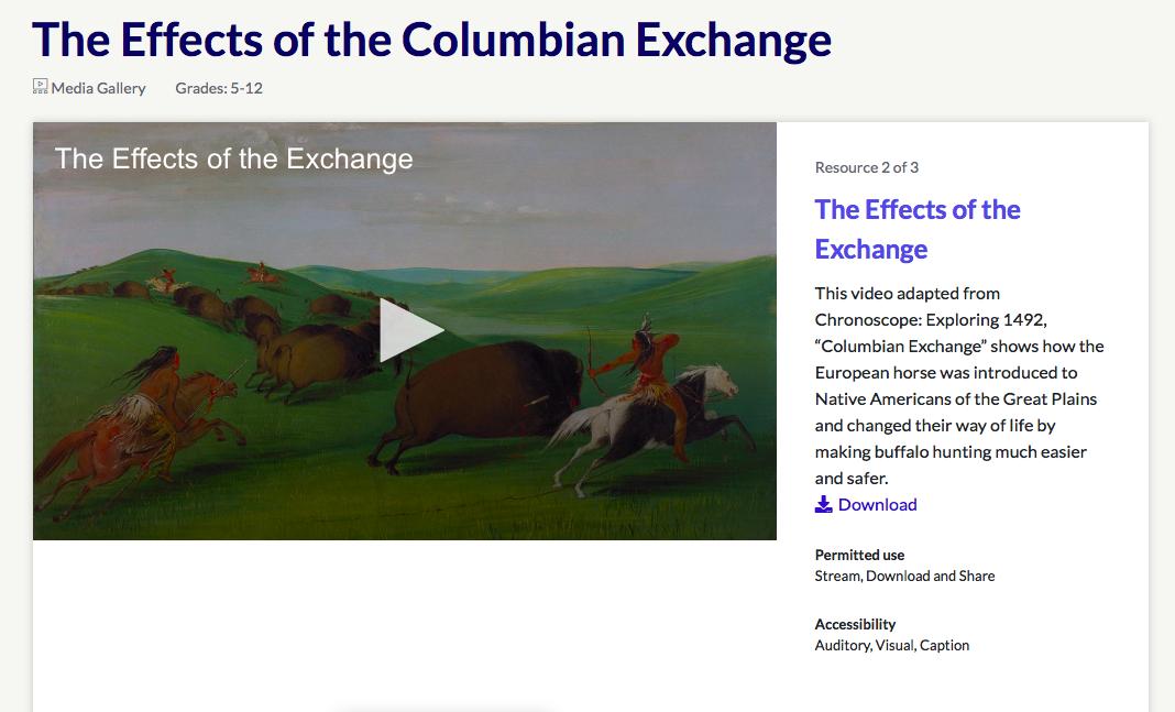 Épinglé sur Columbian Exchange