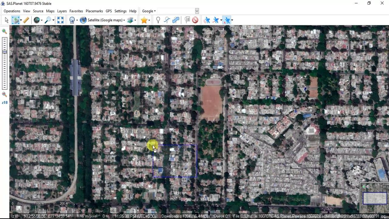 How to download very high resolution satellite images for free using Download Satellite Maps on