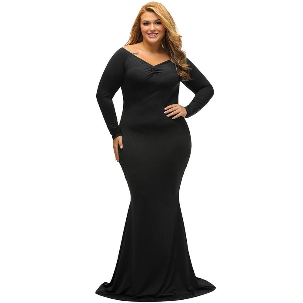 Women plus size maxi dress party xlxl sexy spring long sleeve