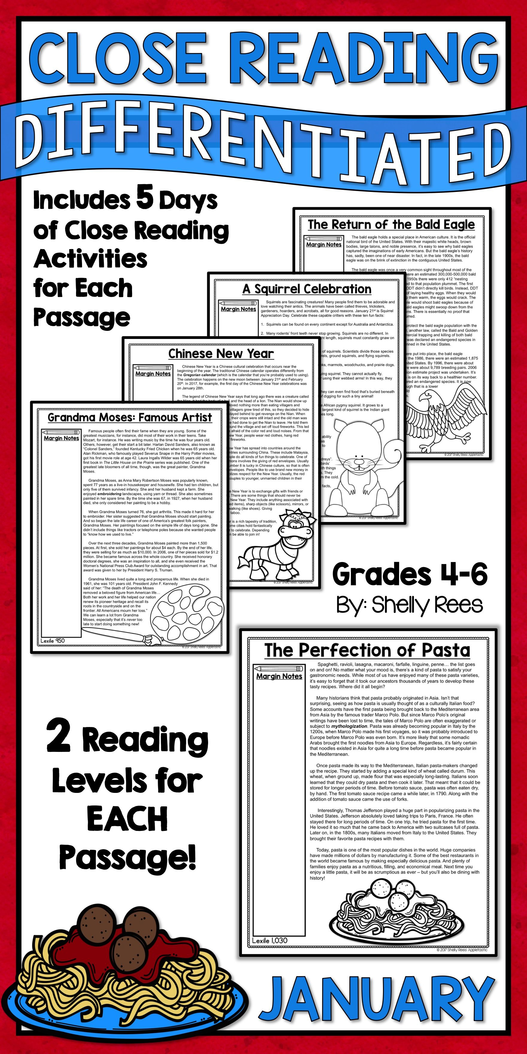 Close Reading Passages And Activities For The Month Of January Are Fun And Interesting For 3rd 4th 5th Reading Passages Close Reading Passages Close Reading [ 3520 x 1760 Pixel ]