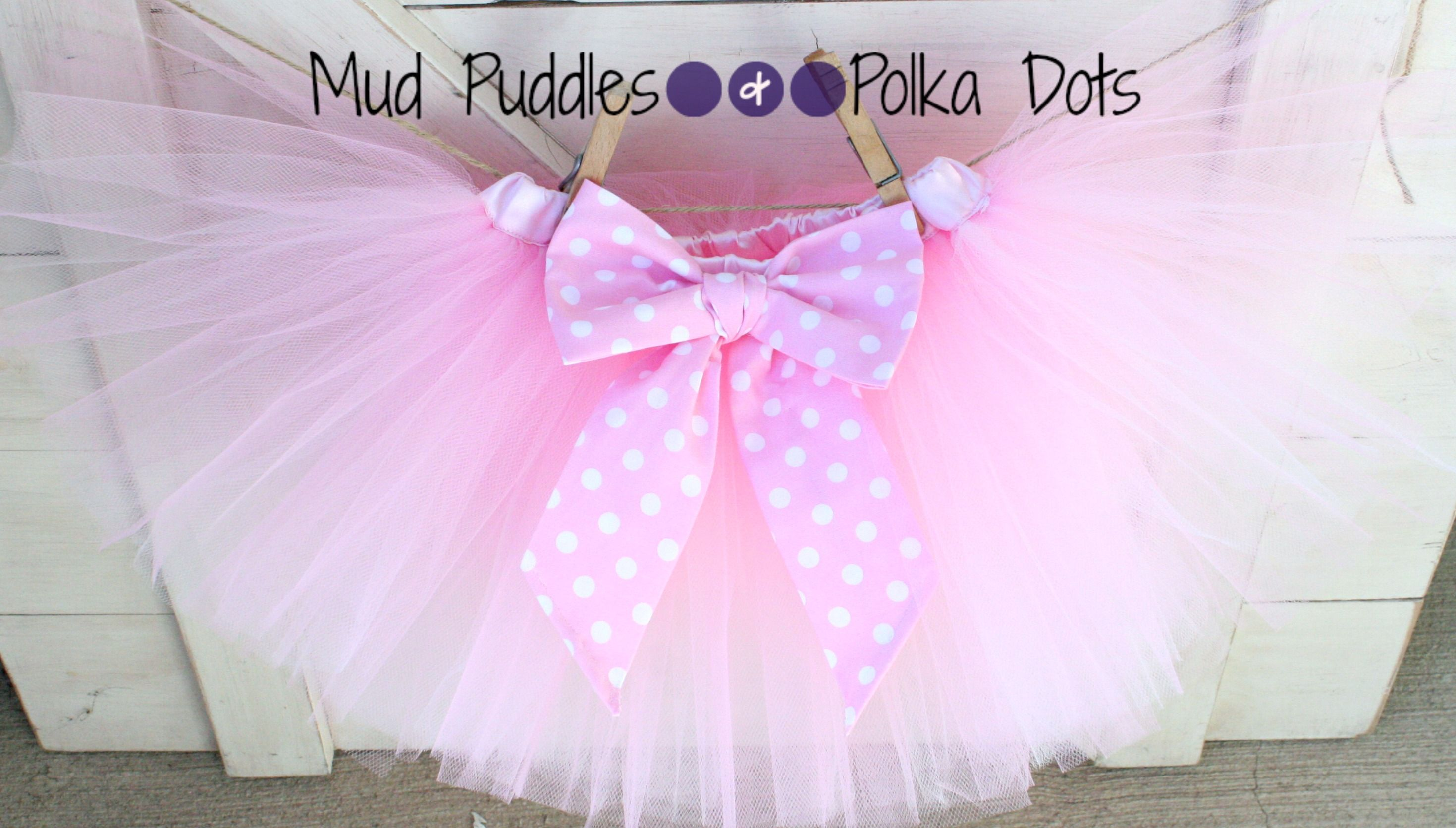 Minnie Mouse Tutu Skirt, Birthday, Shower, Halloween, Mud Puddles and Polka Dots