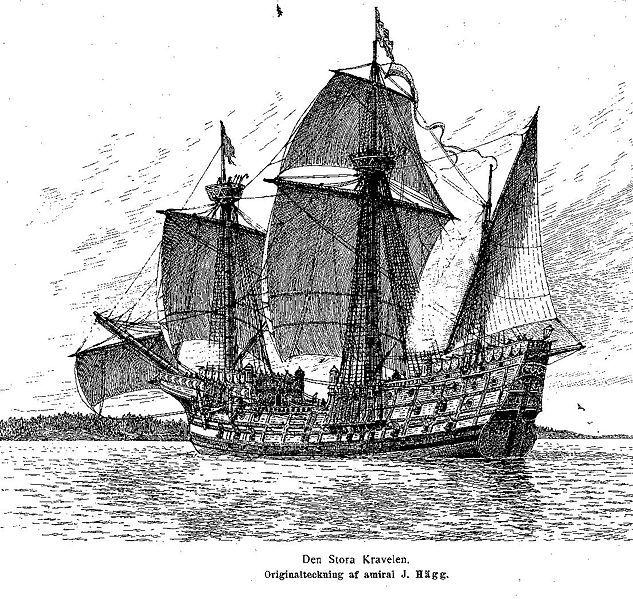 Swedish ship of the line Stora Kravelen 1530's