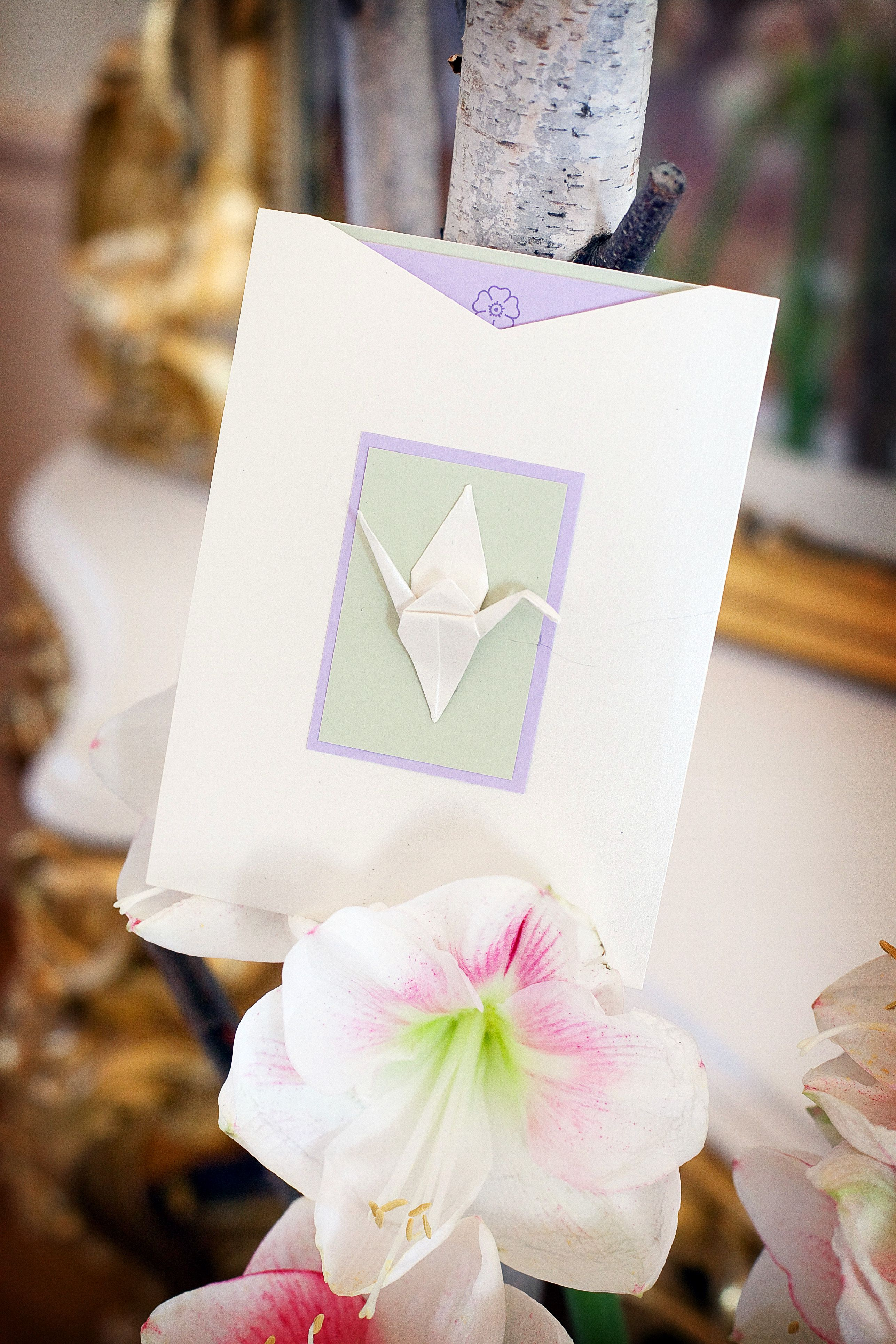 Origami Crane Baby Shower Invitation Design By Donna Kim Of