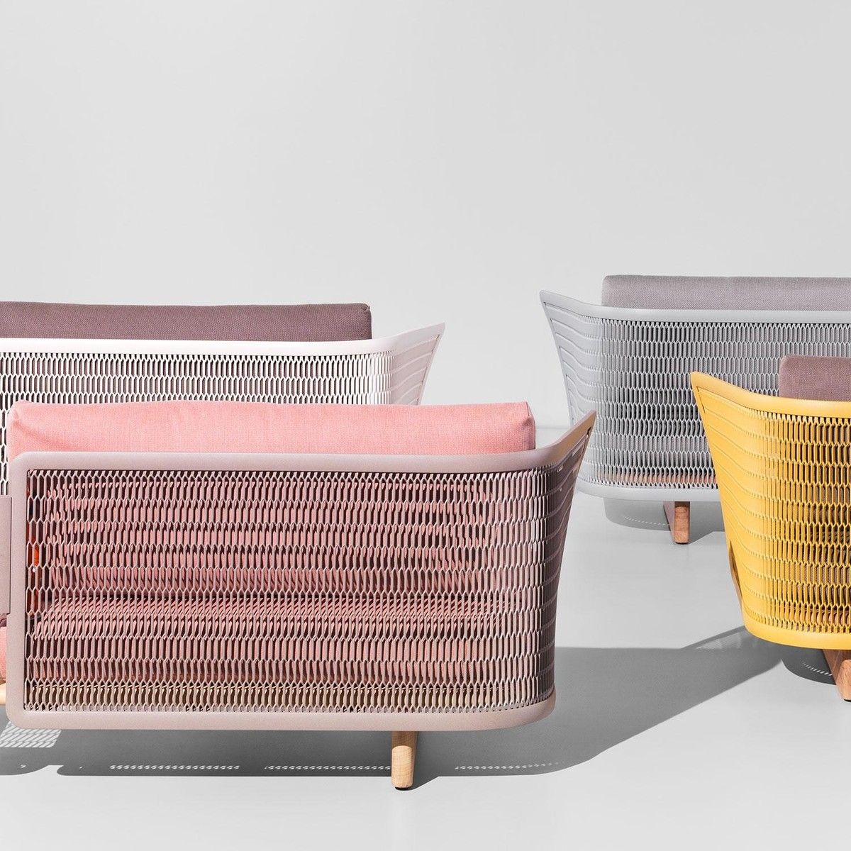 Kettal Mesh Outdoor Sofa Muebles Arquitectura Pinterest  # Muebles Fiction