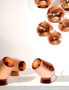 Kupferleuchte I Design I Tischleuchte I Bodenleuchte I Copper I  Spot Light Lighting by Tom Dixon