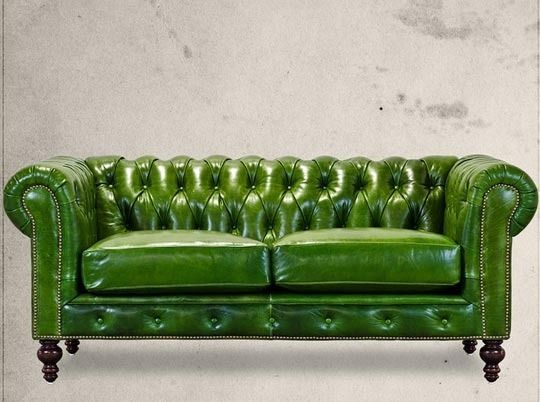 Image result for emerald green leather couch | Grünes ...