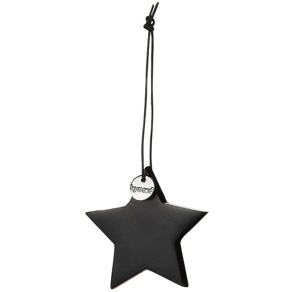 By Nord Ornament Black Soap Stone Star ($14) ❤ liked on Polyvore featuring home, home decor, holiday decorations, christmas, decor, winter, モノトーン, star home decor, christmas tree ornaments and black home decor