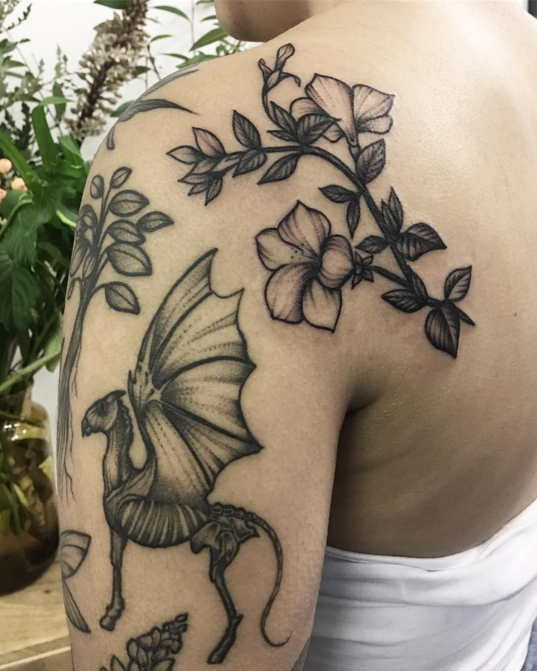 Added a petunia to ashleytysonarts harry potter arm