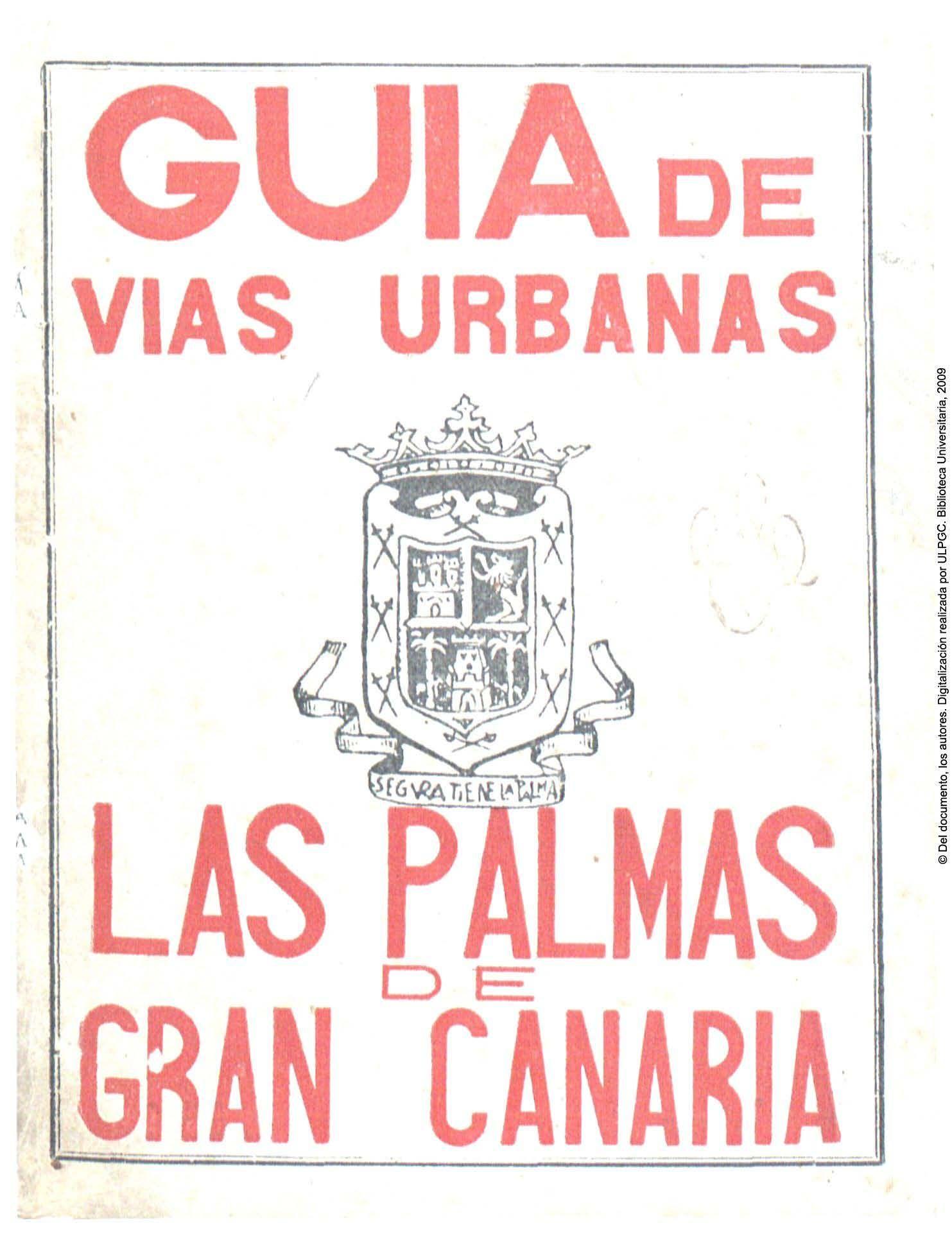 Guia De Las Vias Urbanas De Las Palmas De Gran Canaria In
