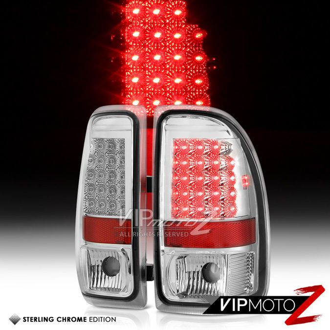 Euro Chrome 1997 1998 1999 2000 2001 2002 2003 2004 Dakota Led Tail Lights Lamps Vipmotoz