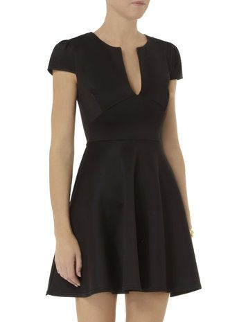 Scarlett B Black Scuba Dress