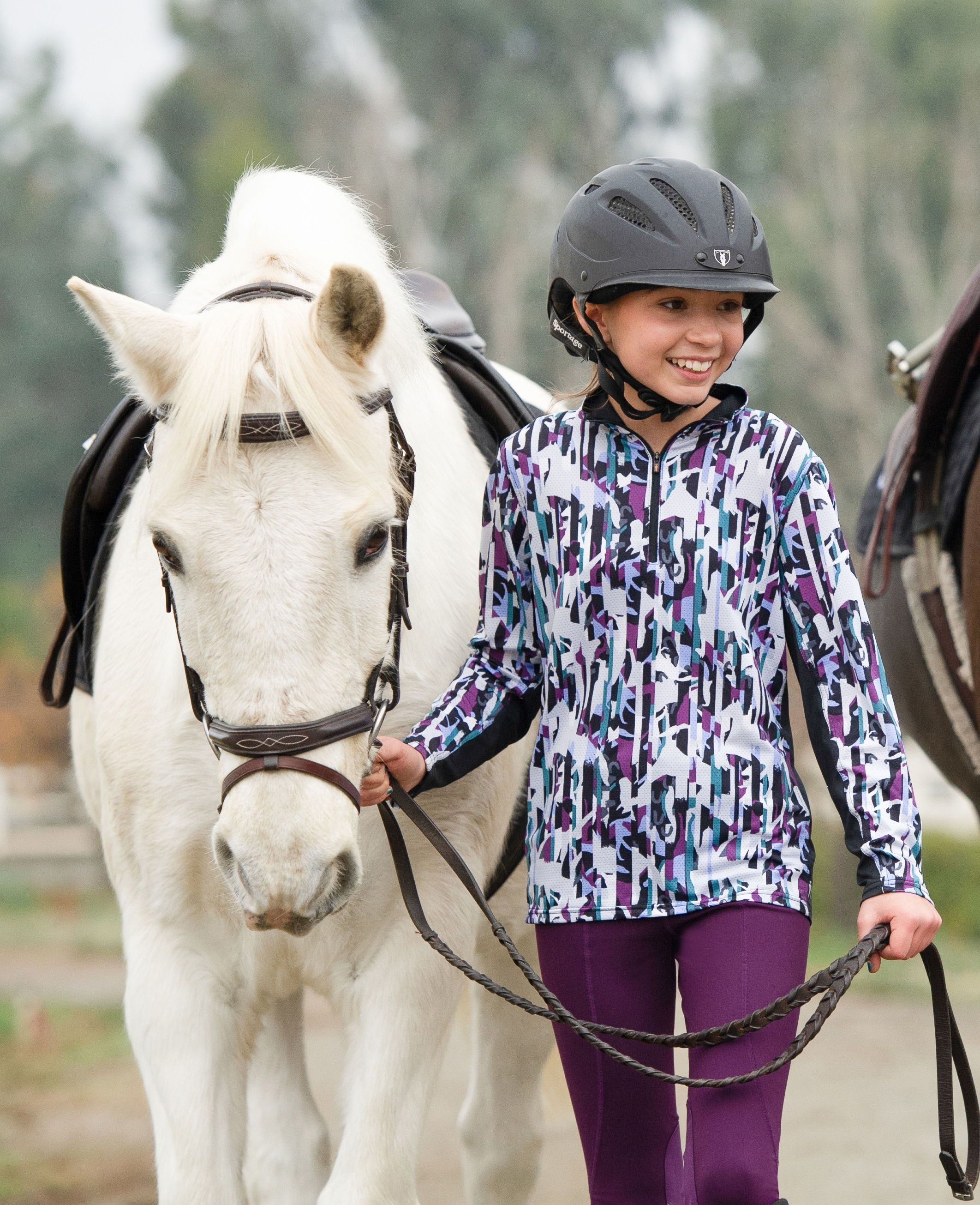 Kids Long Sleeve Riding Shirts Riding Shirts Winter Riding Outfits Equestrian Outfits