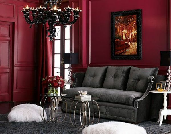 la couleur bordeaux un accent dans l int rieur contemporain couleur hexa meubles gris et. Black Bedroom Furniture Sets. Home Design Ideas