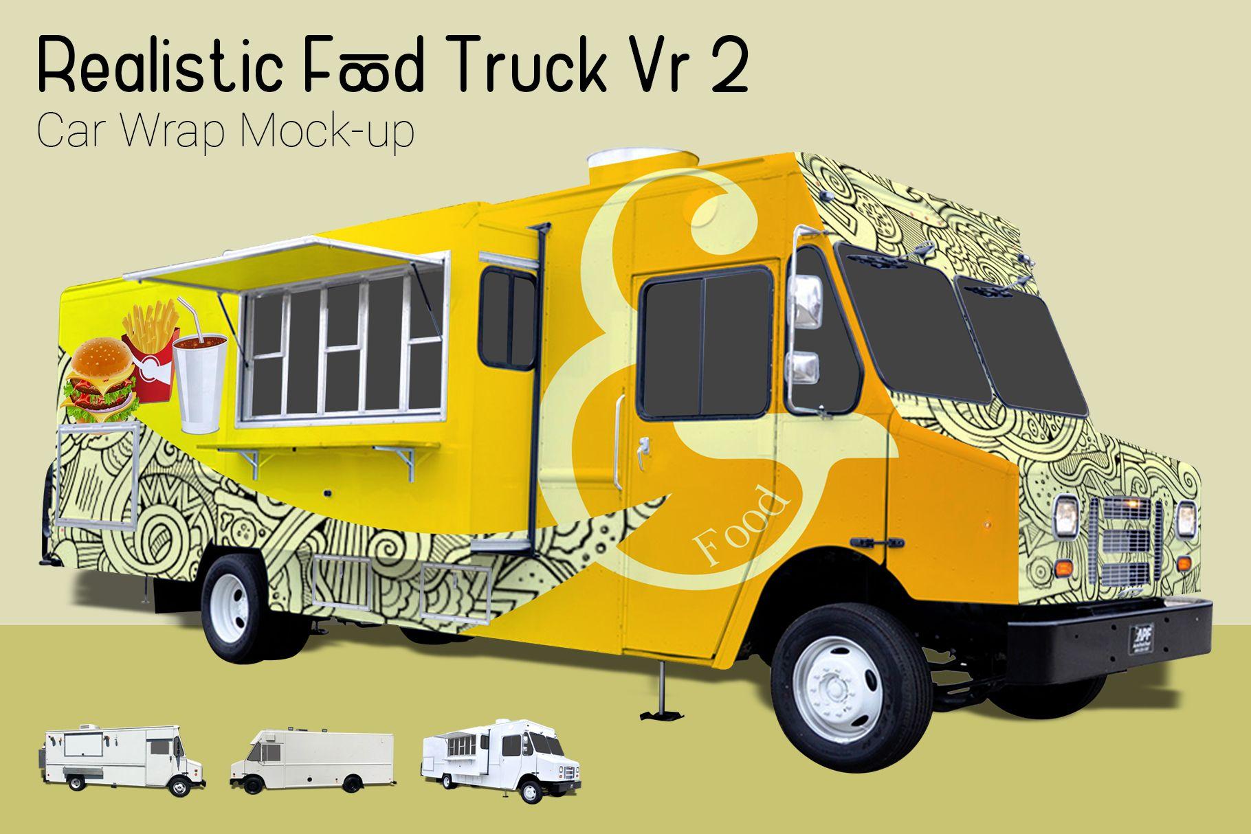 Food truck mockup graphic by gumacreative word art