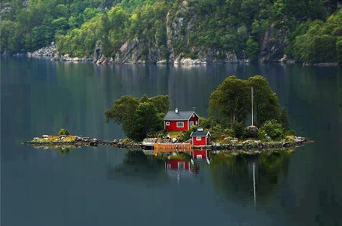 house on an island....i would love that