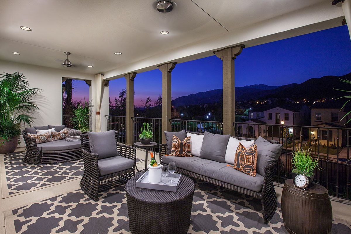 Camellia at Rosedale - new homes Azusa - plan 2 deck