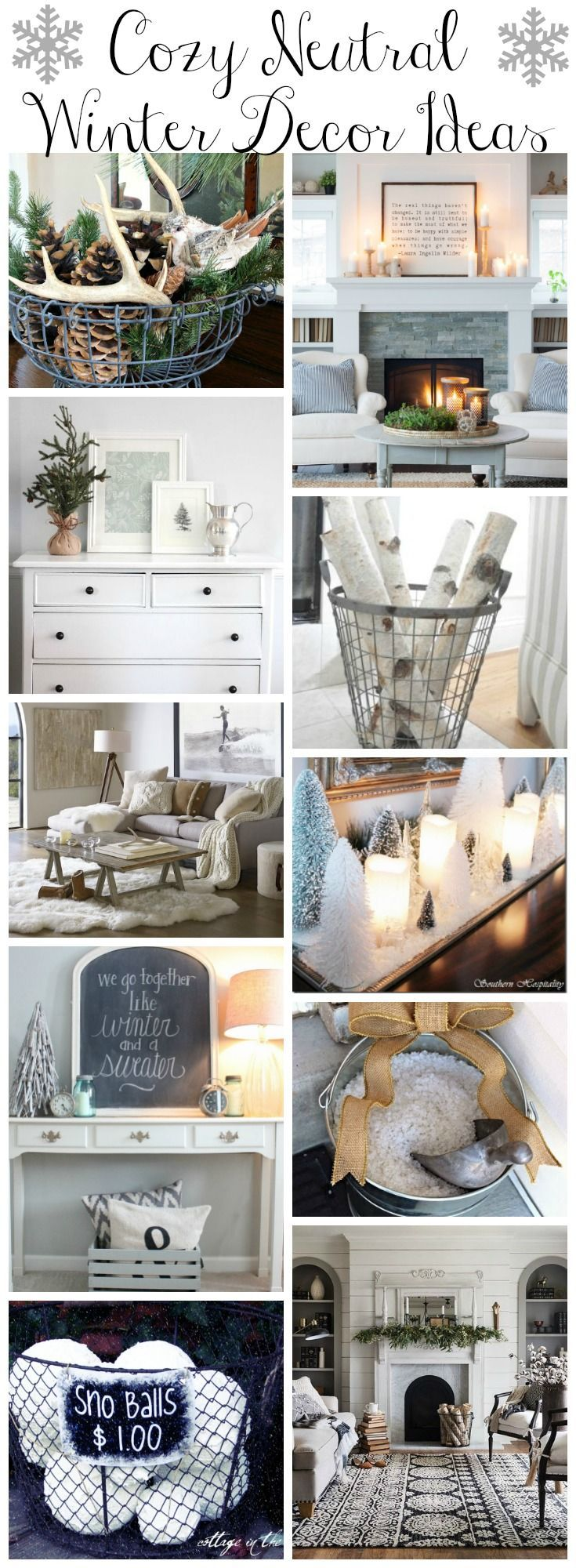Clean Cozy Neutral Winter Decorating Ideas | Neutral, Cozy and Winter