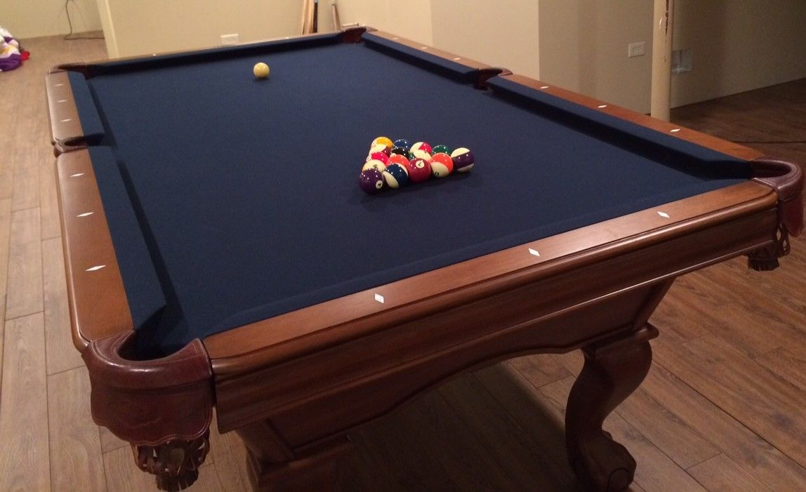Gorgeous 8 39 brunswick billiards sheldon pool table sold for Brunswick pool tables
