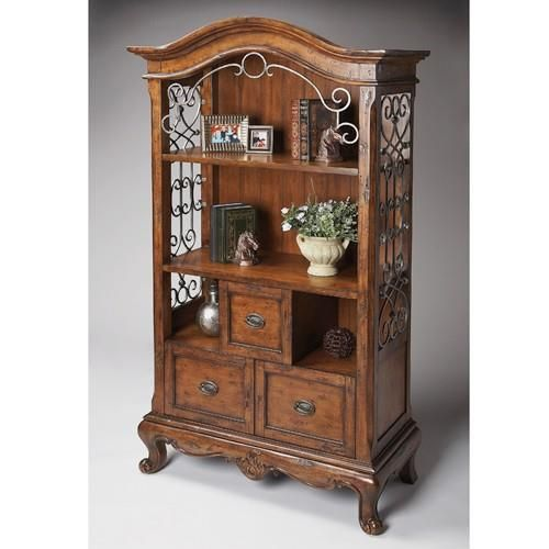 Bookcase - Connoisseurs - 3068090. Bookcase - Connoisseurs - 3068090 This meticulously handcrafted distressed Country French bookcase is a signature piece in any room. There are two shelves - one adjustable and one fixed -in front of the planked back pan.. . See More Bookcases at http://www.ourgreatshop.com/Bookcases-C679.aspx