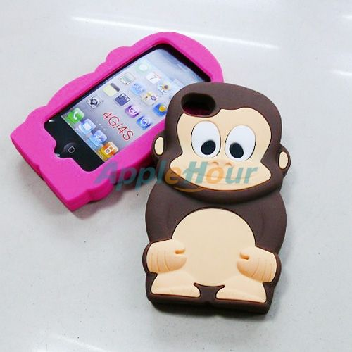 Cute 3D Monkey Pattern Silicon Cases Cover for iPhone 4 #cases #case #cover #skin #iPhone4 #3D #silicone #monkey