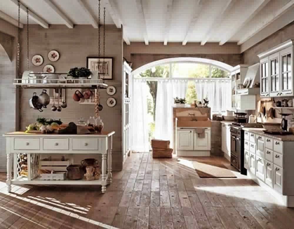 Buffet De Cuisine Style Anglais Decoration Maison De Campagne Decoration Maison Meuble Blanc Et Bois