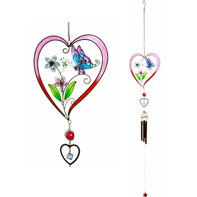 Wholesale Dream Catchers Extraordinary Wholesale Butterfly Heart Windchime  Something Different Decorating Inspiration