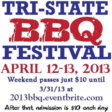 Friday April 12th, 2013 @ 730pm.. Southern Chain Gang hits the stage! Tri- State BBQ Fest!