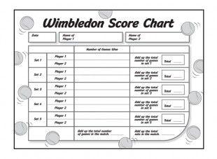 Wimbledon Score Chart  Great For Kids This Summer IchildCoUk