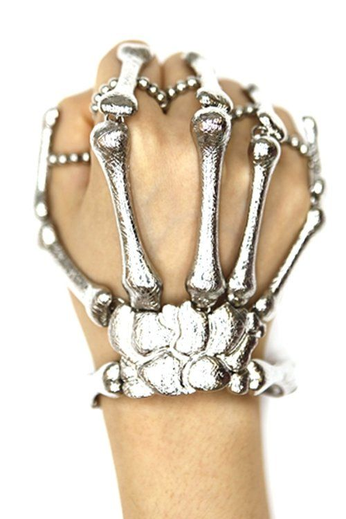 Black Skeleton Hand Jewellery Bracelet Halloween Accessory