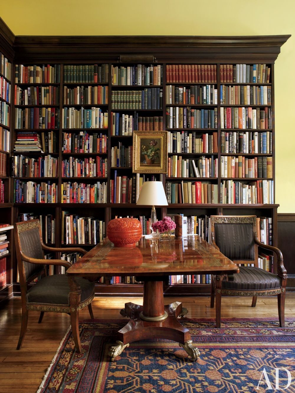 Traditional office library by thomas jayne studio in - Libri design interni ...