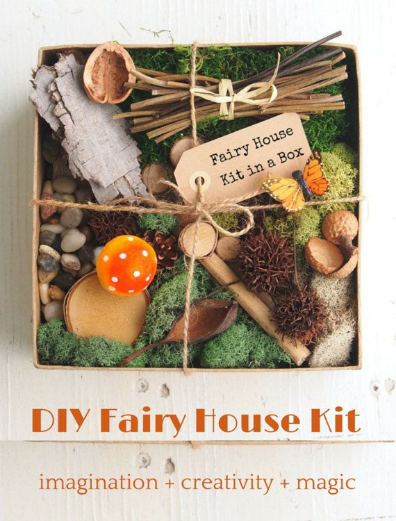 Fairy Garden Kit, Fairy House Kit DIY Gnome Home Natural Nature All Natural  Eco Friendly Gift   Modern Gardening