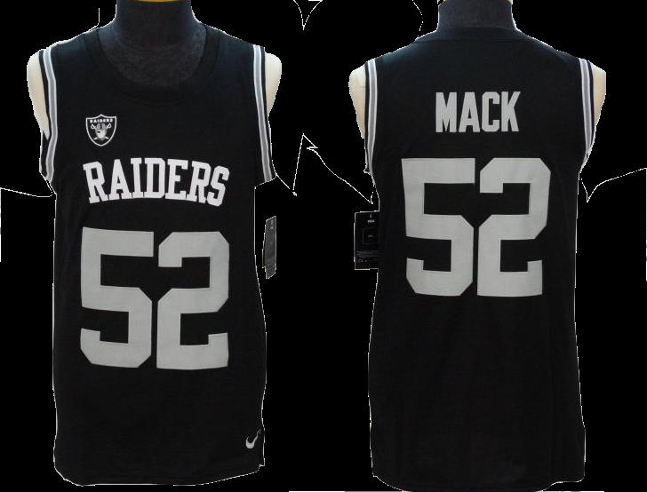 Oakland Raiders Jersey - Khalil Mack Men s Black Vapor Untouchable Player  Name   Number Tank Top fa9e26c9c
