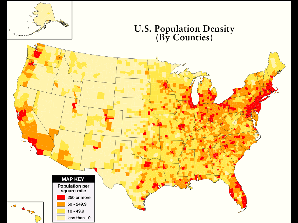 United States Map By Population.A Guide To Population Growth And Density Race And Hispanic United