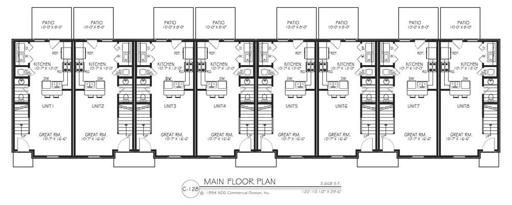 8 plex apartment plans 8 plex building plans for 6 plex floor plans